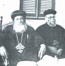 H. H. Pope Shenouda III with Rev. Fr. Boutros Gayed